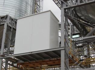 Cerramiento de aluminio blanco para Cabina de Comando de carga de camiones