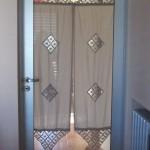 Puerta Herrero de 36mm Anodizado natural con vidrio entero.