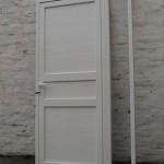 Puerta de aluminio Modena ciega con placa lisa, adozado paño fijo lateral